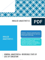 Inhaled Anesthetics Part 1