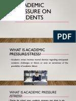 academic pressure Ppt