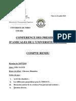 C.R Réunion Du 24-07