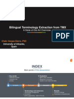 Bilingual Terminology Extraction From TMX