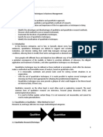 Quantitative and Qualitative Techniques in Business Management