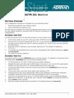 NetVanta 1224STR DC Quick Start Guide