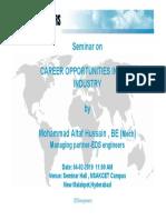 Career Opportunities in HVAC Industry-seminar