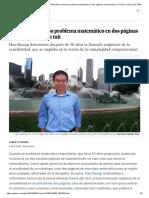 La Conjetura de La Sensibilidad_ Resuelto Un Famoso Problema Matemático en Dos Páginas Condensadas en Un Tuit _ Ciencia _ EL PAÍS