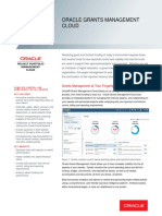 Oracle Grants Management Cloud Datasheet