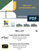 NEC vs JCT Contracts