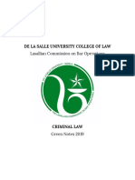 Criminal Law - DLSU 2019