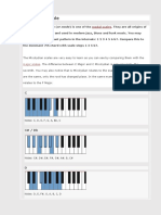 Piano Mixolydian Scales - Overview With Pictures