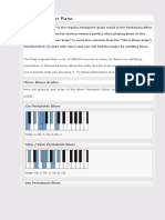 Piano Pentatonic Blues Scales - Overview With Pictures