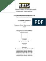 Design of Experiment Format