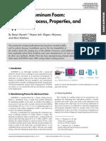 Aluminium Foam_ Production Process, Properties and Applications