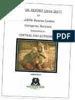 Anuaal Report Wildlife Rescue Centre Gurugram1617