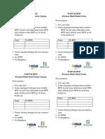 Format Cara Daftar BPJS