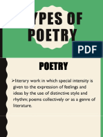 CW4- Kinds of Poetry