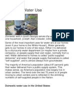 Domestic Water Use