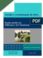 Regime jurídico de edificações de urbanização