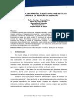 Análise e Complementações Sobre Estrutura Metálica Para Enfoque de Redução Da Vibração