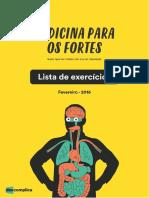 eBook Lista de Exercicios Medicina Fevereiro 2016