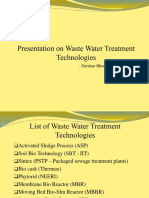 Waste Water Treatment Technology PPT