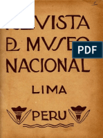 Revista Del Museo Nacional Tomo I