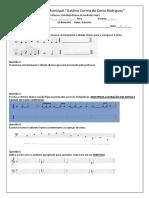 Modelo de  Prova Teoria Musical  básica
