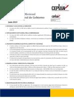 Seguimiento Mensual Política General de Gobierno - Ceplan 2019