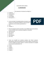 Evaluación Quinta Unidad