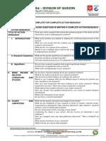 Template for Complete Action Research DEPEDQUEZON SGO PAR 04 004 001 5