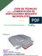 Cimentación micro pilas