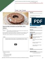 Receita de Bolo de Chocolate Low Carb Fofinho, Fácil e Delicioso