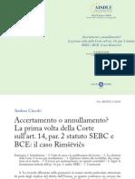 Rimsevics - Andrea Circolo