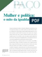 AVELAR, Lúcia. Mulher e Política - o Mito Da Igualdade