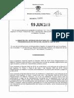 DECRETO 1101 DEL 19 de JUNIO de 2019 Plazos Renta Villavicencio