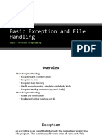 03 Basic Exception and File Handling
