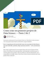 Como Criar um projeto de Data Science