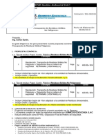 Presupuesto de Residuos Sólidos No Peligrosos- QUIMICOS GOICOCHEA S.a.C