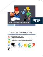Ortesis en Pediatria 2011