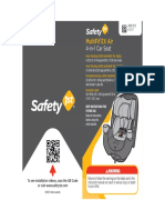 User Guide - Safety 1st MultiFit EX Air 4-In-1 Car Seat - Item No CC204 (1)