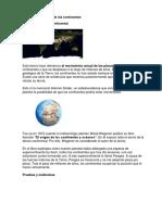 Teorías de La Deriva de Los Continentes Segundo Inbac