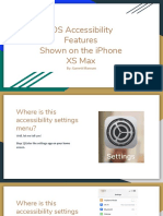 ios accessibility features shown on the iphone xs max  1