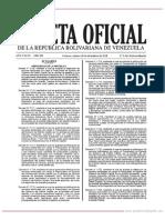 GO 6420 Decreto Nº 3.719 de Fecha 28 de Diciembre de 2018