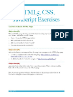 HTML 5 Exercises