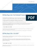 EZTitles Plug-Ins Ver. 5 Price Sheet