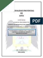 Planeamiento Integral de La Comunidad de Kehuar