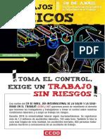 CCOO - 28 de Abril. Salud y Seguridad en El Tr