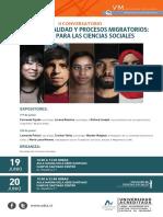 afiche Multiculturalidad y procesos migratorios, desafíos para las ciencias sociales