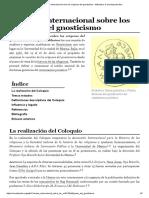 Coloquio Internacional sobre los orígenes del gnosticismo  1966