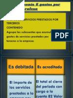 Dinamica Cuenta 63 Gastos de Servicios Prestados Por Terceros