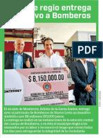 09-08-19 Alcalde regio entrega donativo a Bomberos