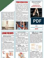 Triptico Lesiones en Deporte de Ballet